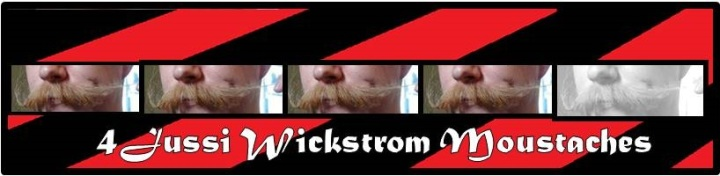 Four Jussi Wickstrom Moustaches out of Five