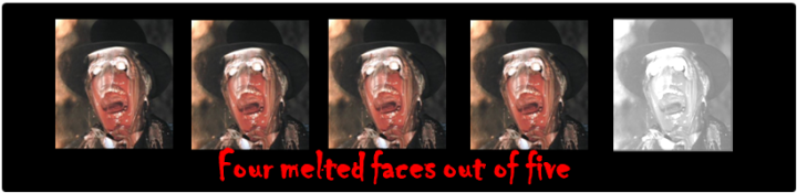 melted faces
